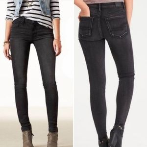 AMERICAN EAGLE Black Stretch Low Rise Skinny Jeans